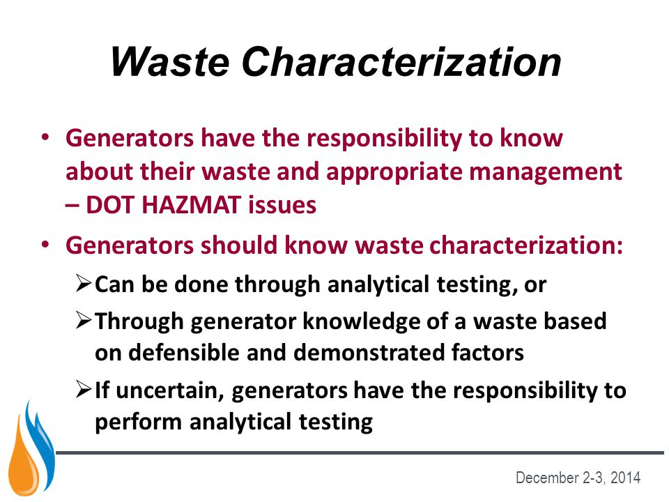 Waste Characterization