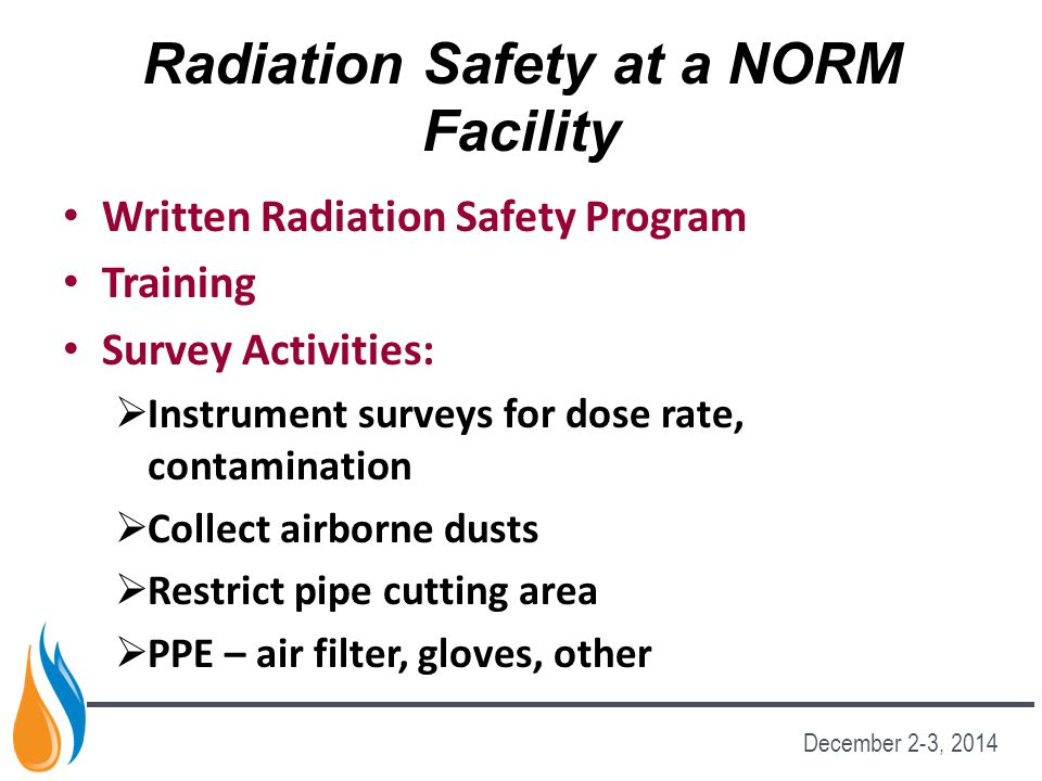 Radiation Safety at a NORM Facility