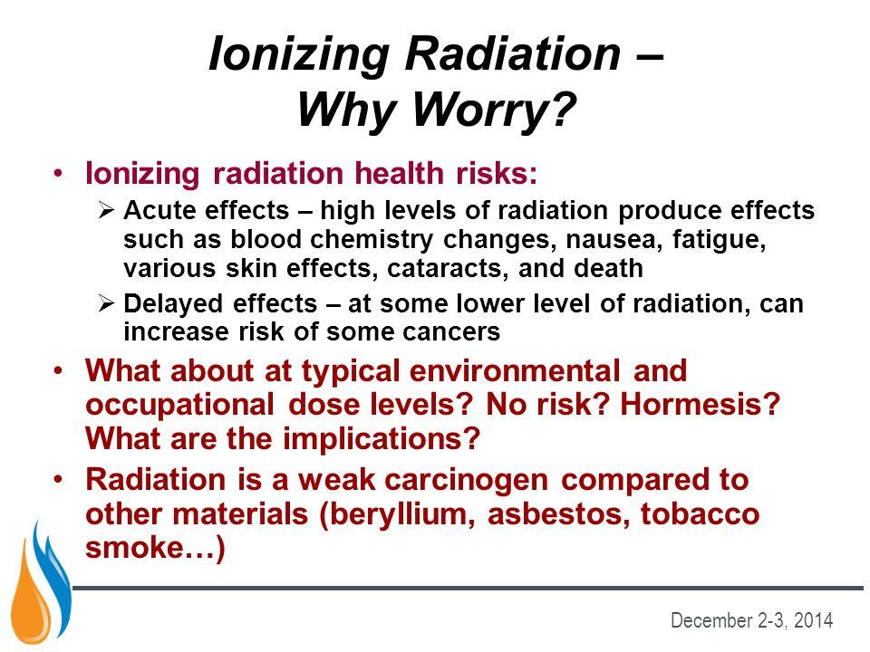 Ionizing Radiation – Why Worry
