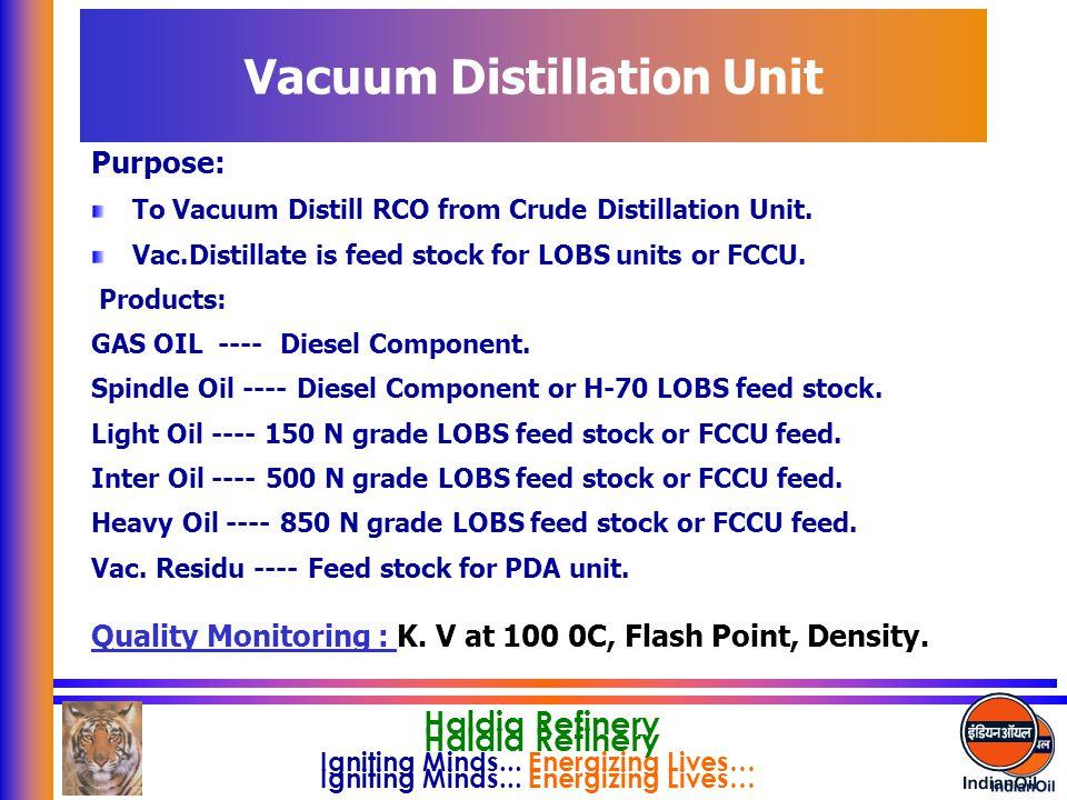Vacuum Distillation Unit