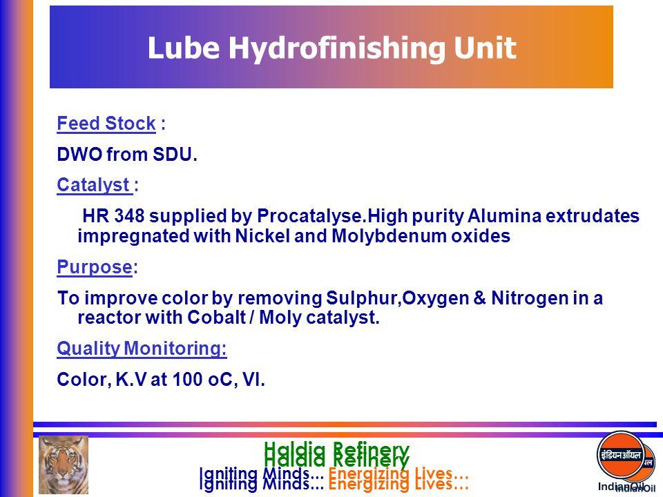 Lube Hydrofinishing Unit