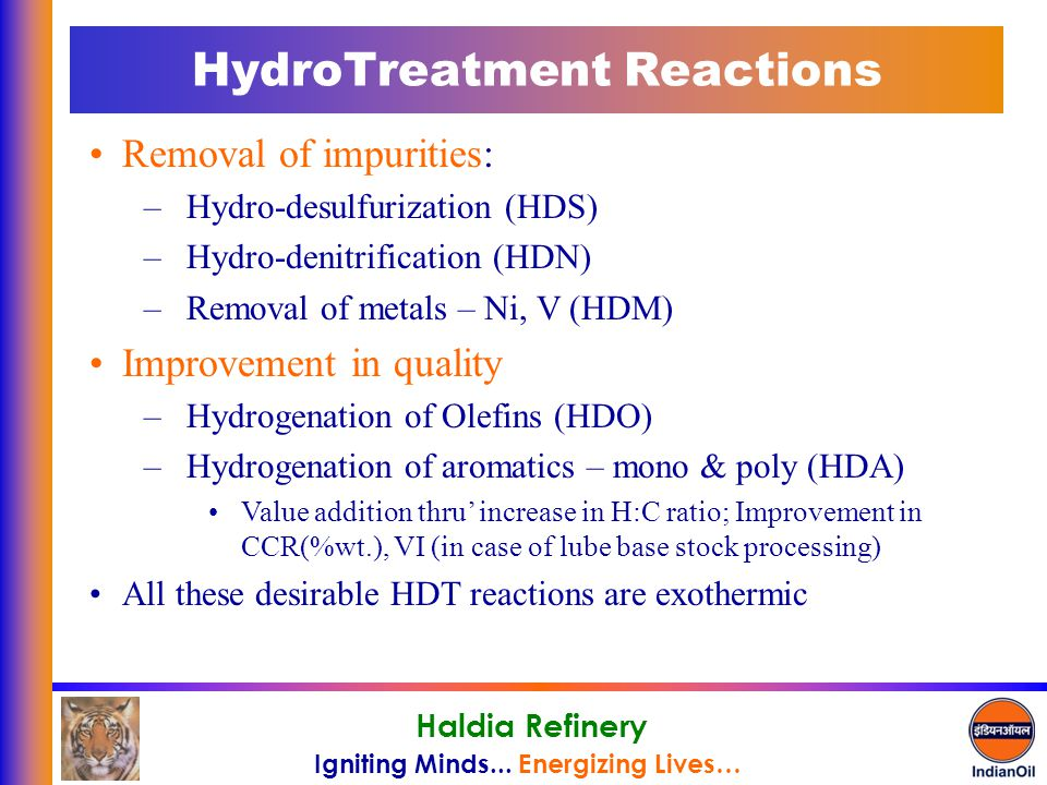 HydroTreatment Reactions