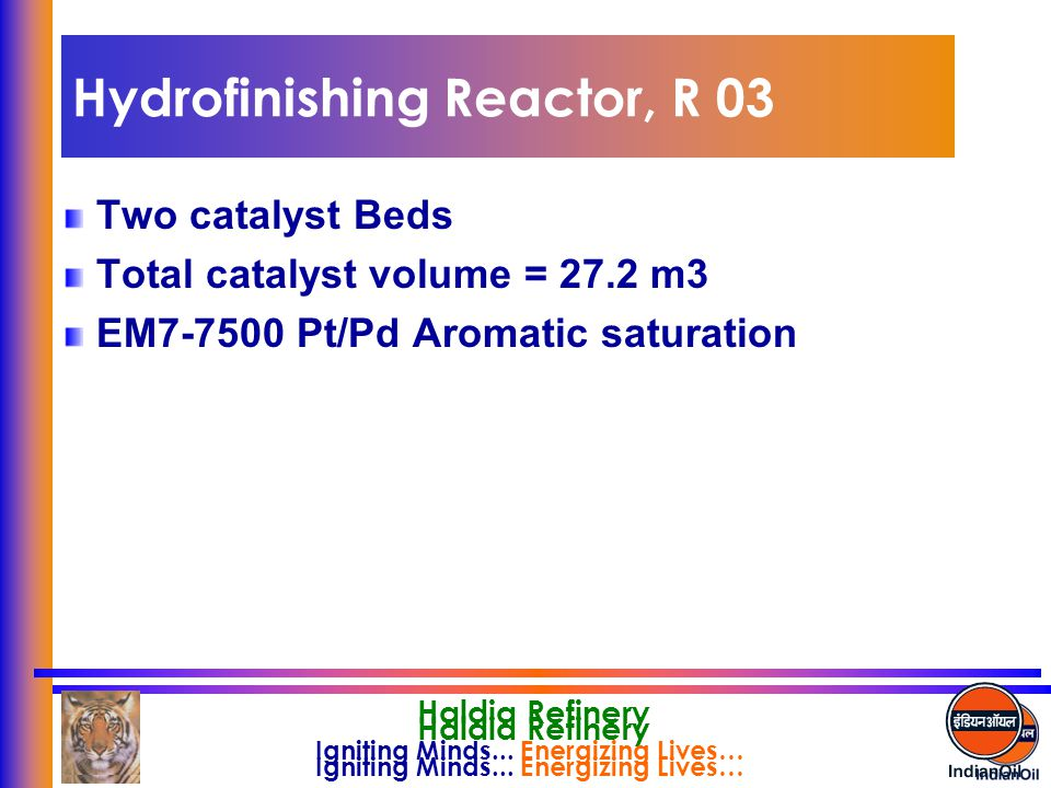 Hydrofinishing Reactor, R 03