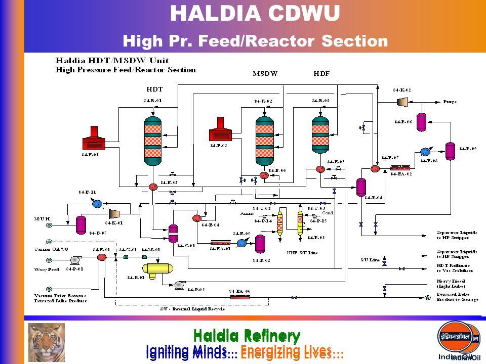 HALDIA CDWU High Pr. Feed/Reactor Section