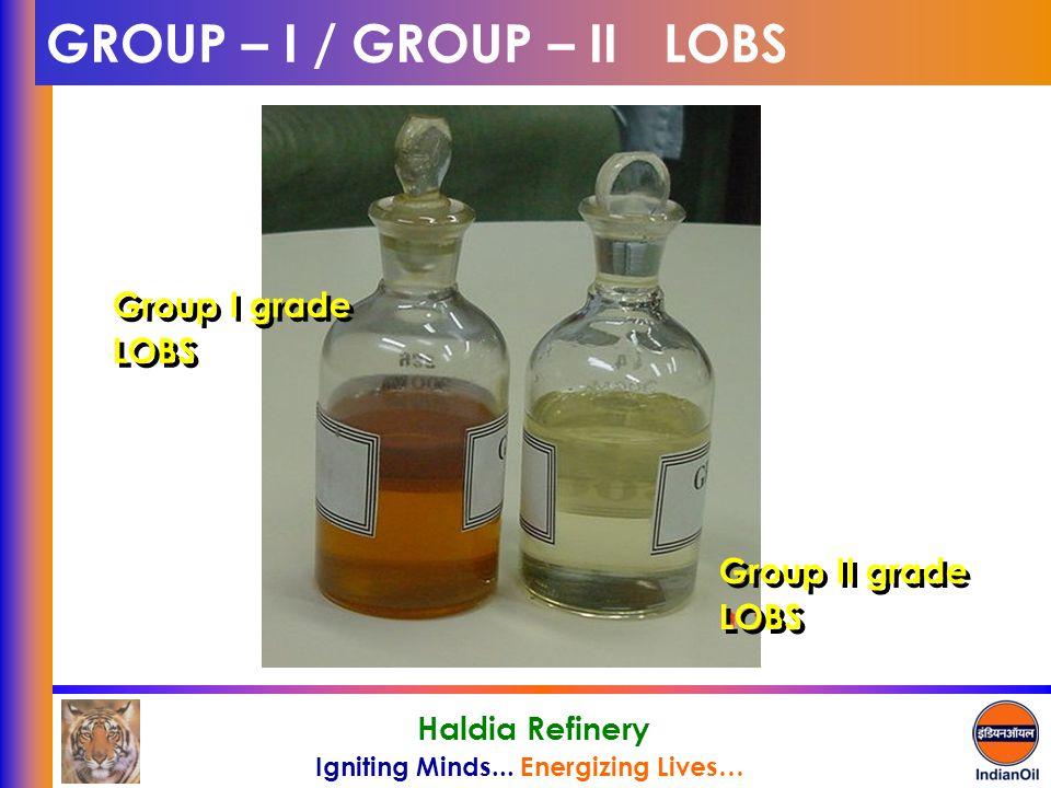 GROUP – I / GROUP – II LOBS