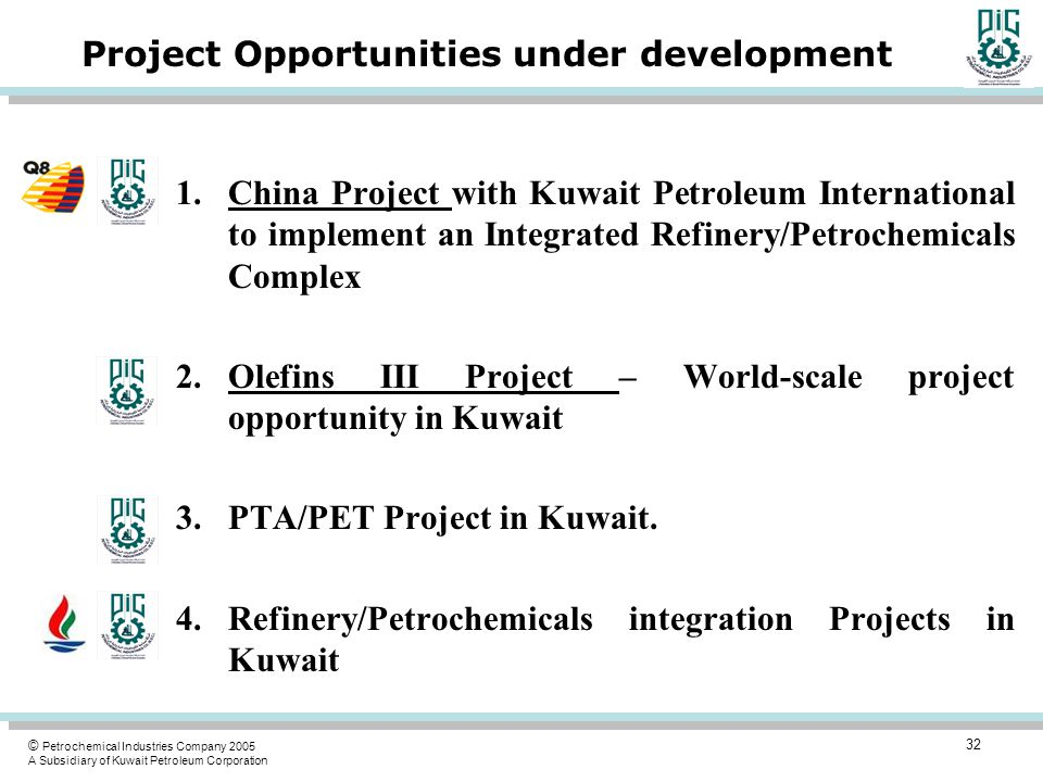 Project Opportunities under development
