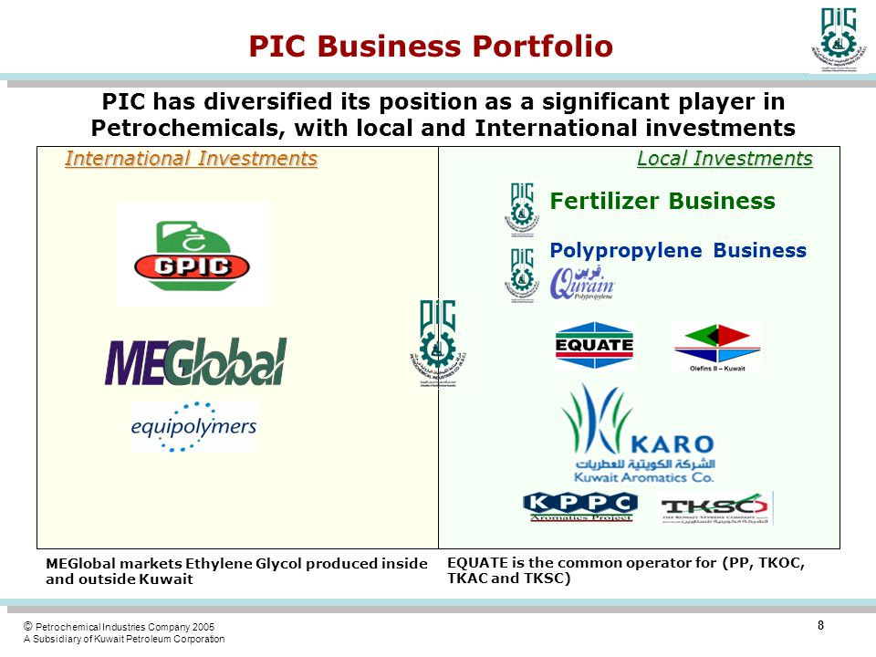 PIC Business Portfolio