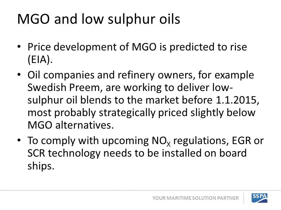MGO and low sulphur oils