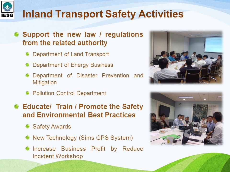 Inland Transport Safety Activities