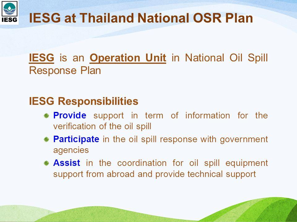IESG at Thailand National OSR Plan
