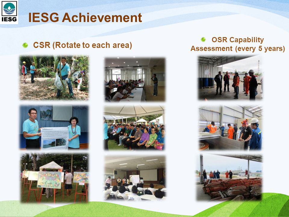 OSR Capability Assessment (every 5 years)