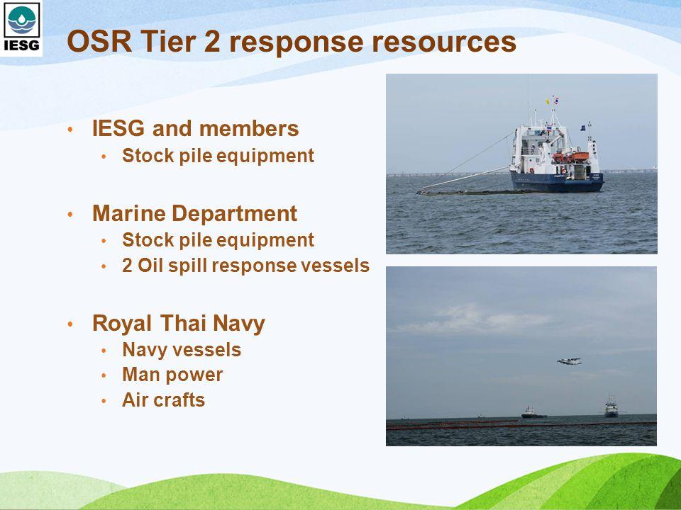 OSR Tier 2 response resources