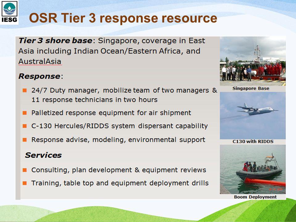 OSR Tier 3 response resource