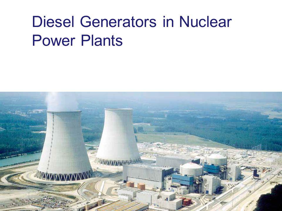 Diesel Generators in Nuclear Power Plants