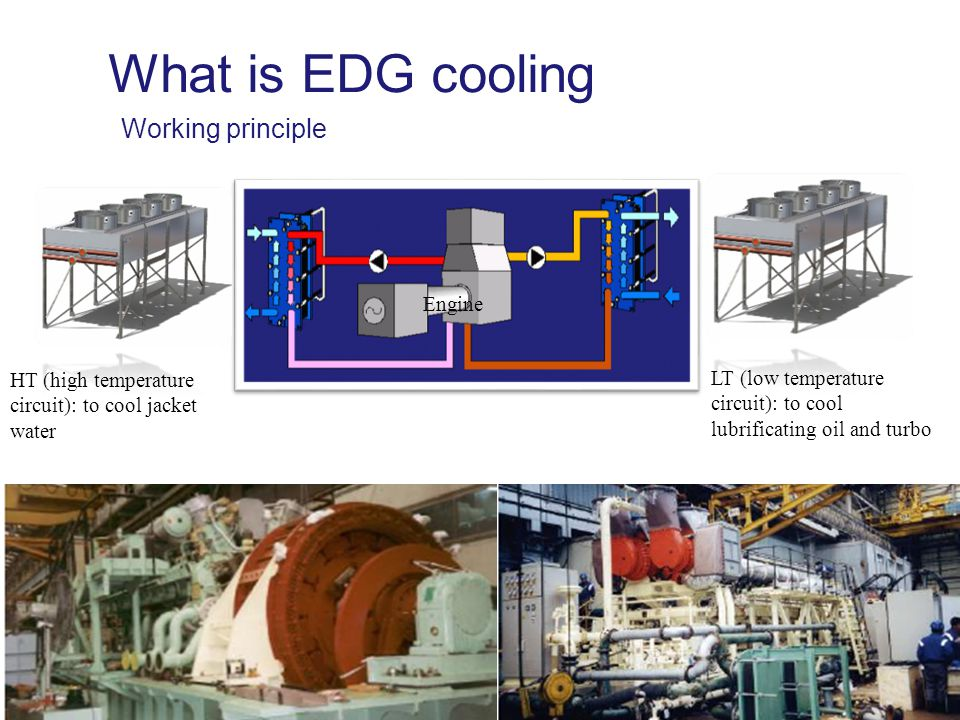 What is EDG cooling Working principle Engine
