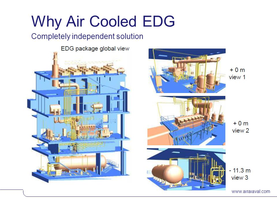 Why Air Cooled EDG Completely independent solution www.alfalaval.com