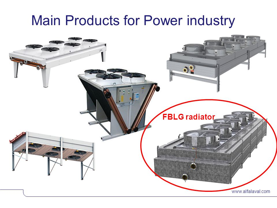 Main Products for Power industry