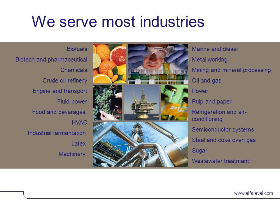 We serve most industries
