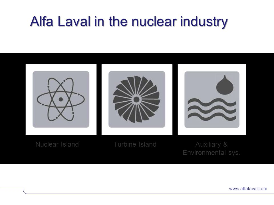 Alfa Laval in the nuclear industry