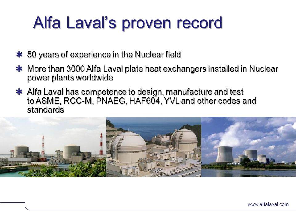 Alfa Laval's proven record