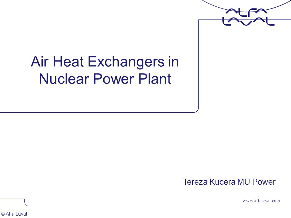 Air Heat Exchangers in Nuclear Power Plant