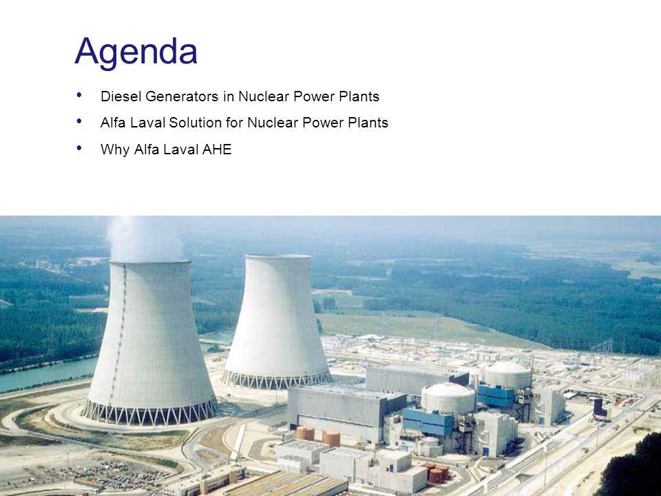 Agenda Diesel Generators in Nuclear Power Plants