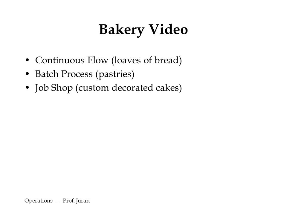 Bakery Video Continuous Flow (loaves of bread)