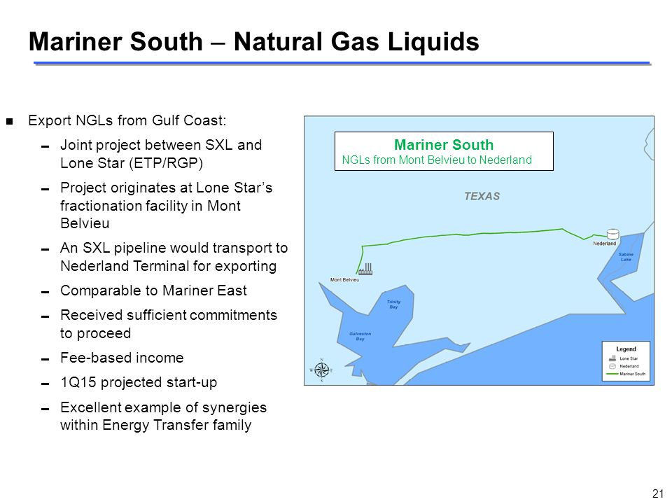 Mariner South – Natural Gas Liquids