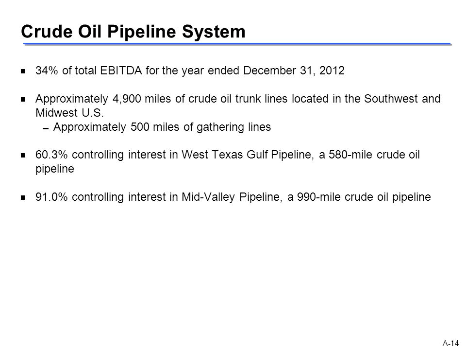 Crude Oil Pipeline System
