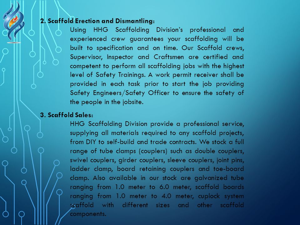 2. Scaffold Erection and Dismantling: