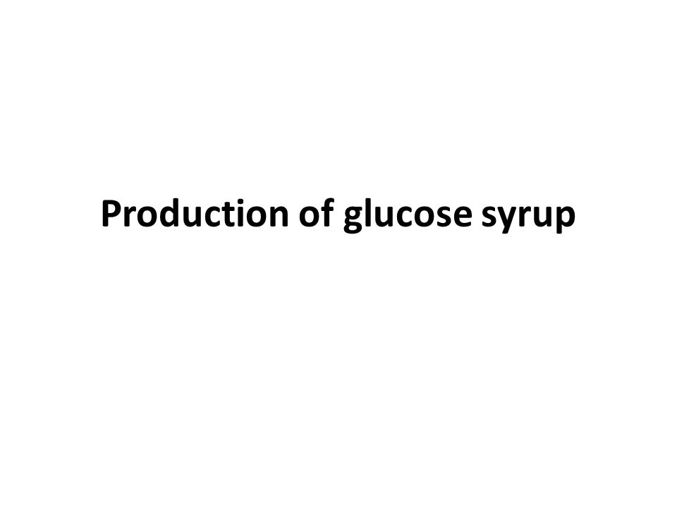 Production of glucose syrup