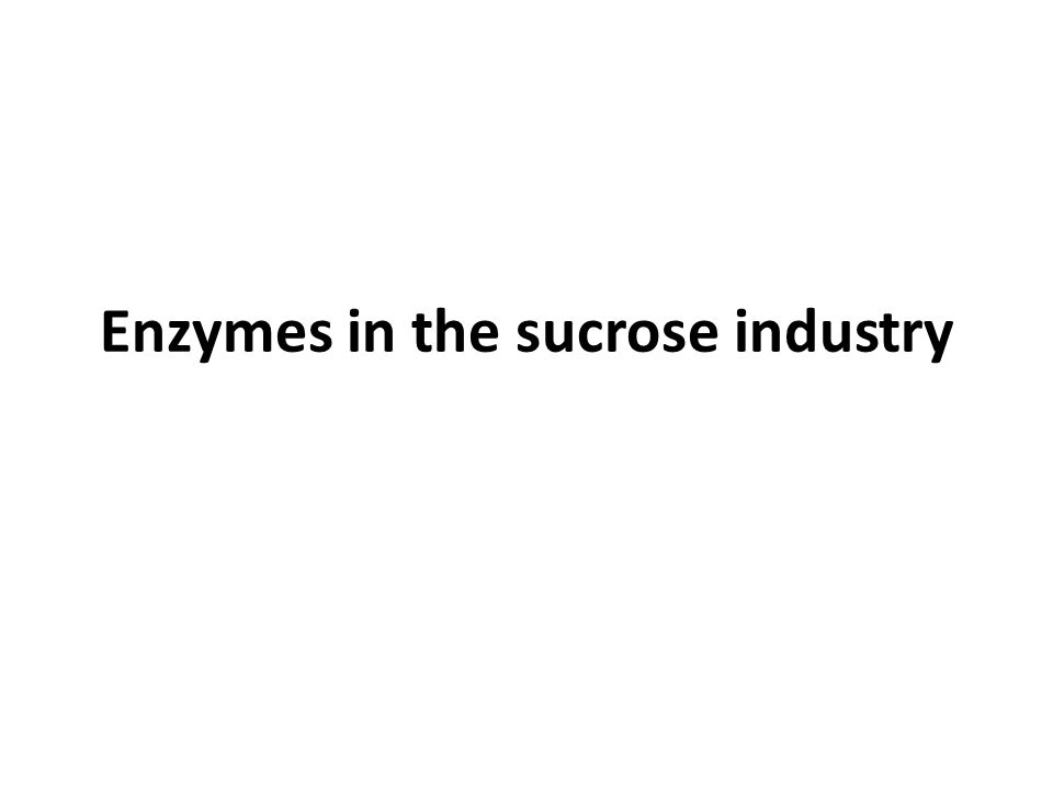 Enzymes in the sucrose industry
