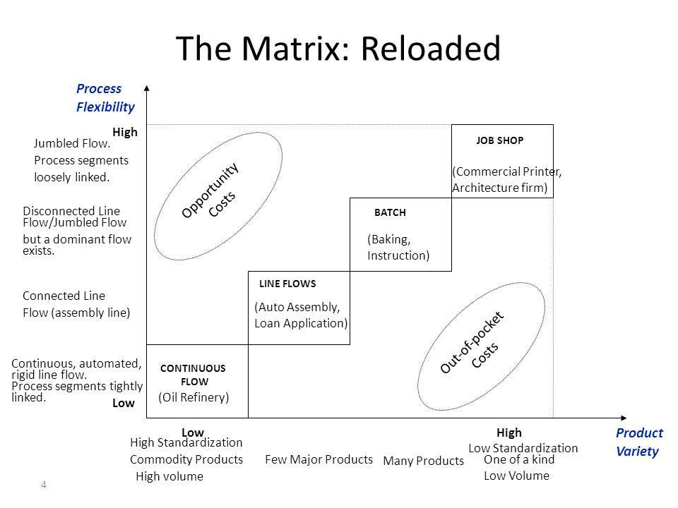 The Matrix: Reloaded Process Flexibility Opportunity Costs