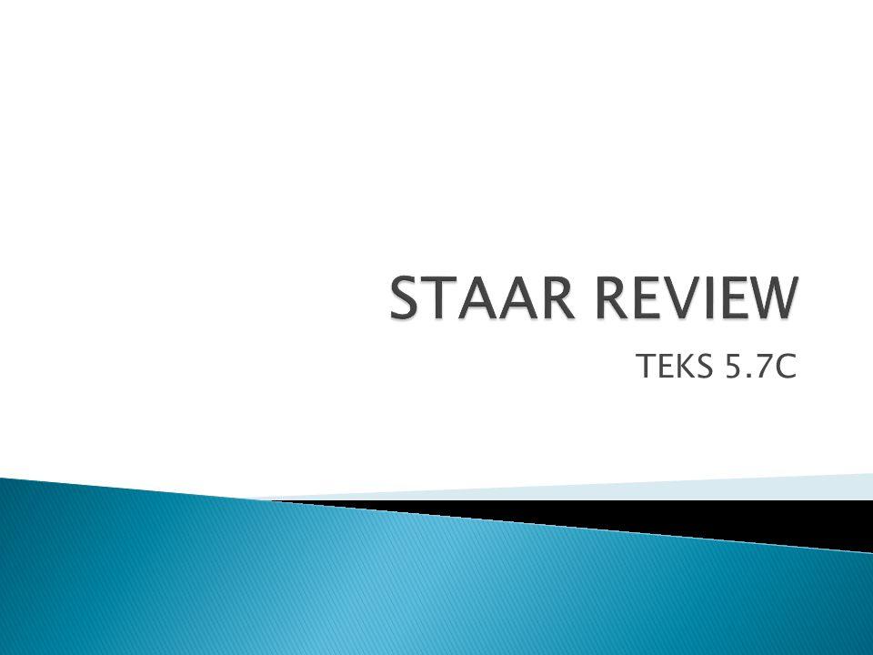 STAAR REVIEW TEKS 5.7C