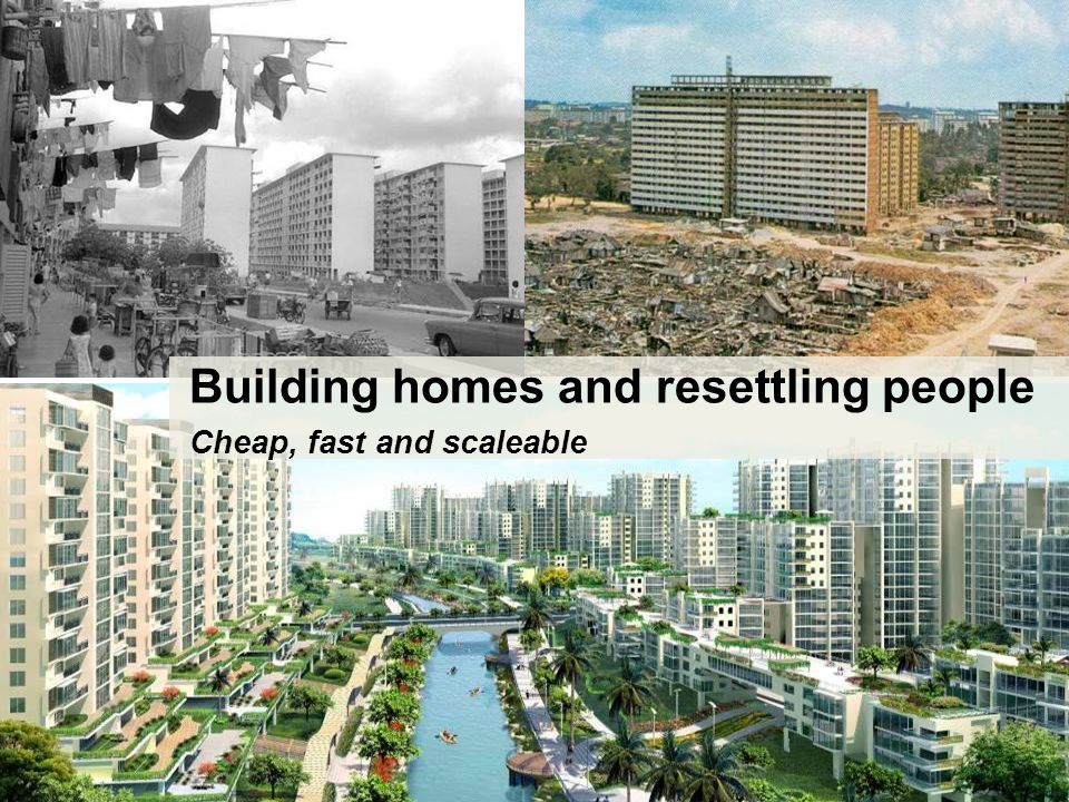 Building homes and resettling people