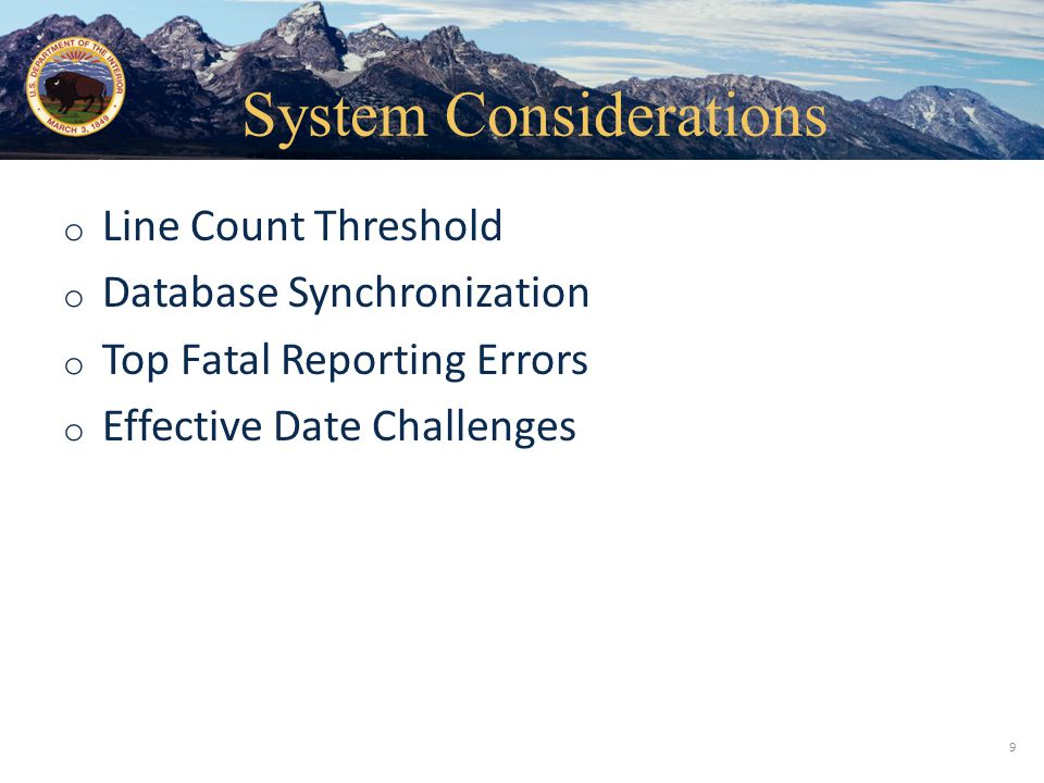 System Considerations