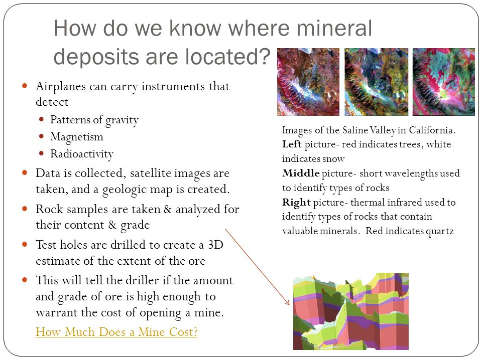 How do we know where mineral deposits are located