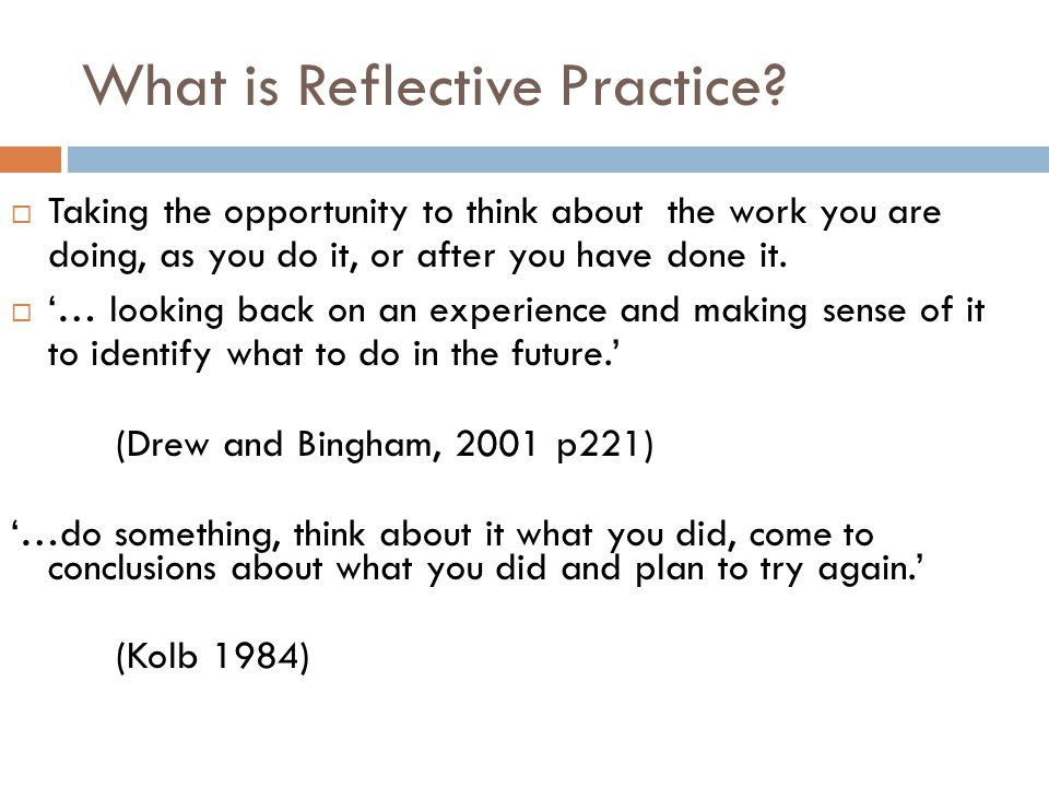 reflective practice critical thinking