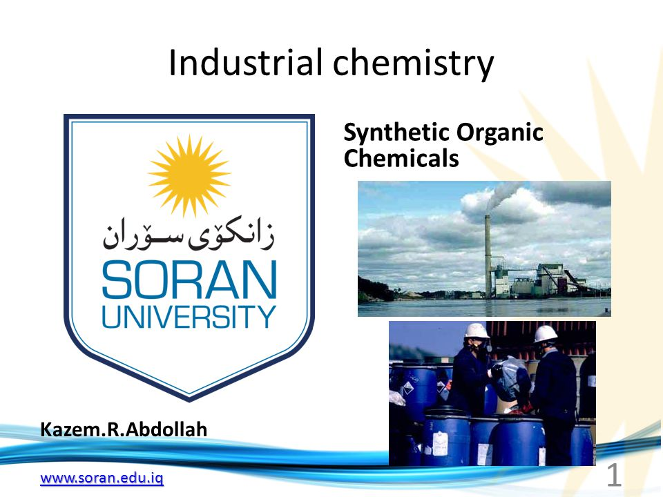 Industrial chemistry Synthetic Organic Chemicals Kazem.R.Abdollah