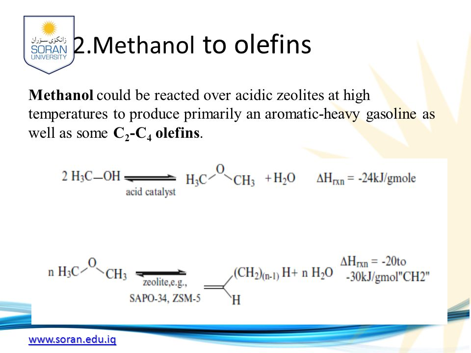 2.Methanol to olefins
