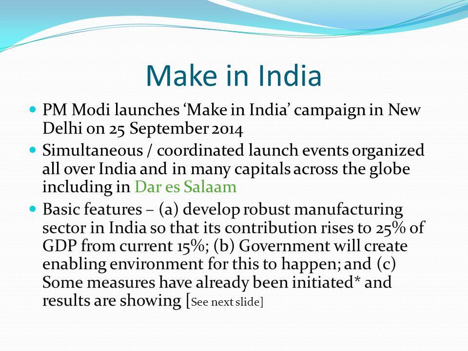 Make in India PM Modi launches 'Make in India' campaign in New Delhi on 25 September 2014.