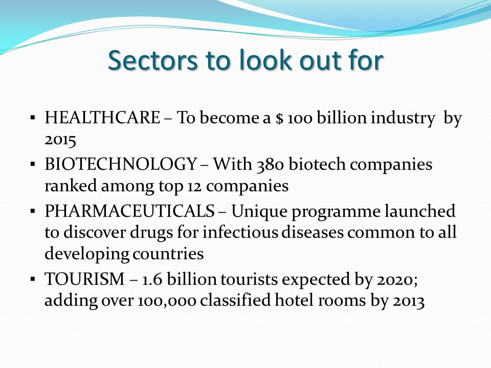 Sectors to look out for
