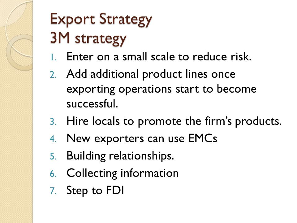 Export Strategy 3M strategy