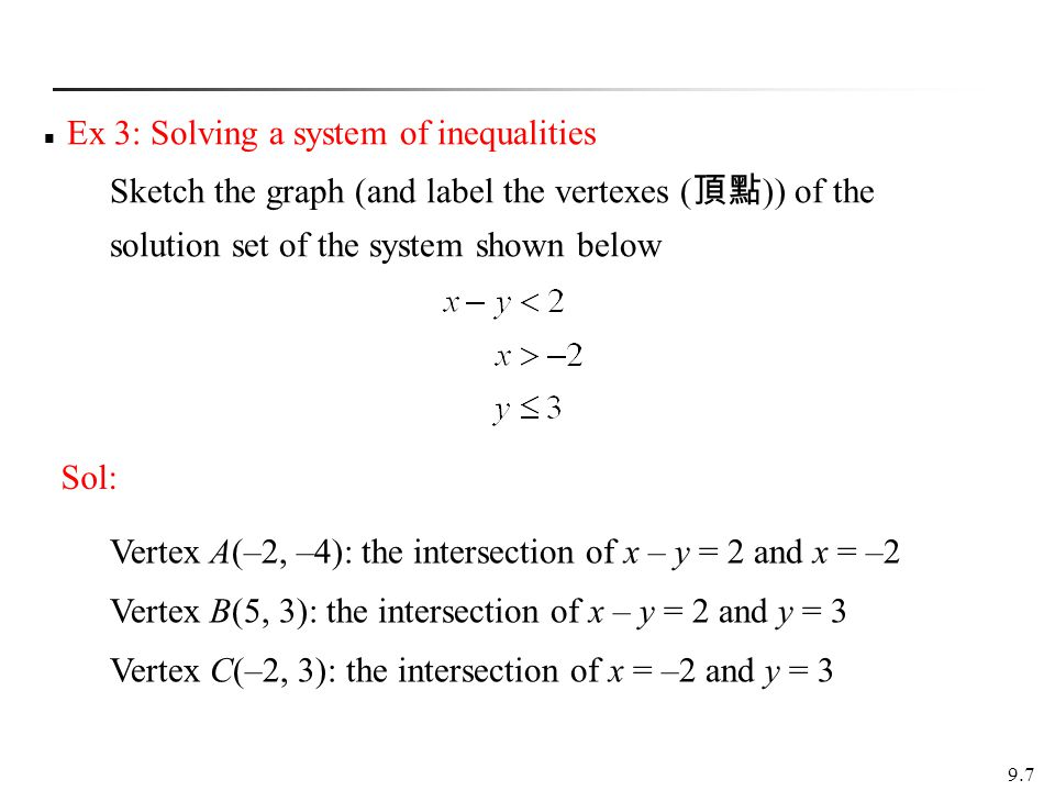 Ex 3: Solving a system of inequalities