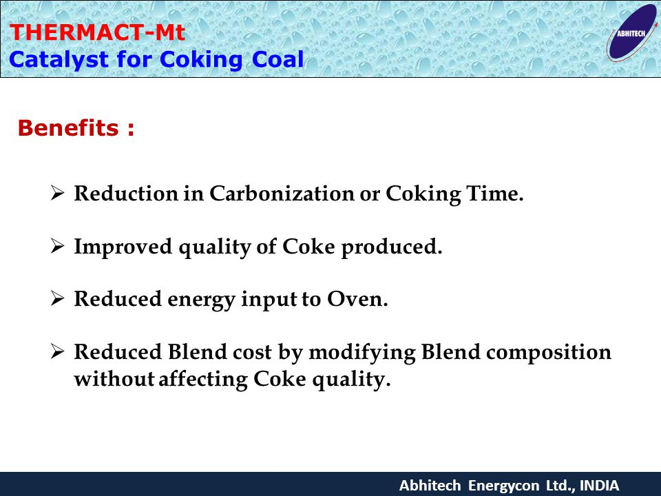 Catalyst for Coking Coal