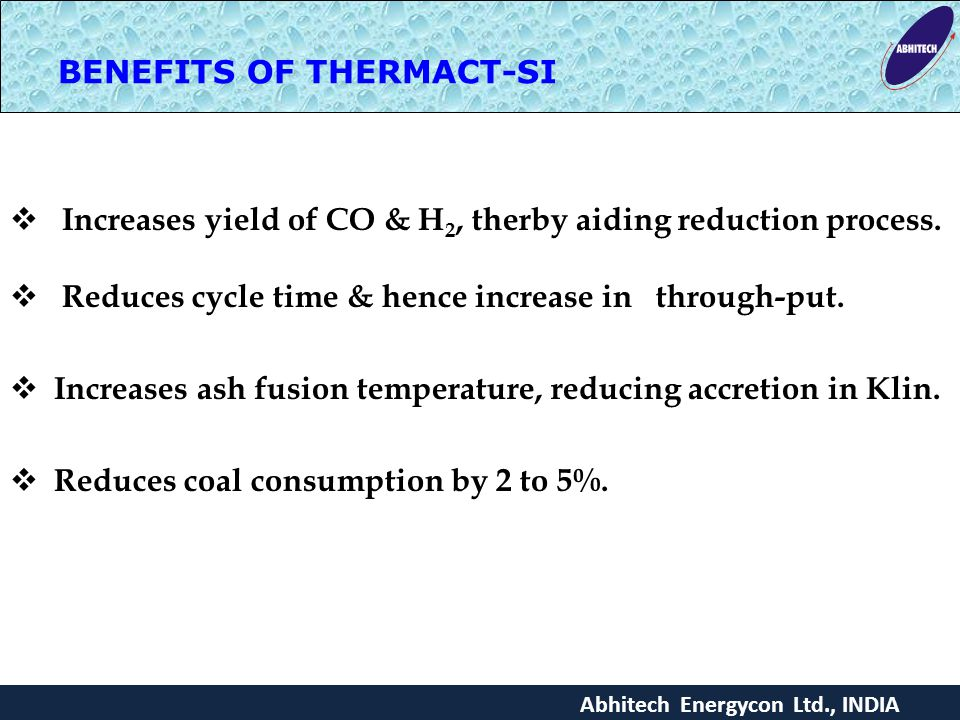 BENEFITS OF THERMACT-SI