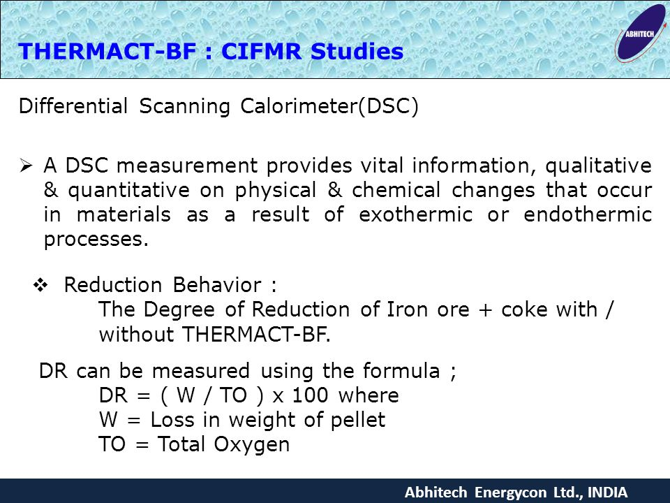 THERMACT-BF : CIFMR Studies