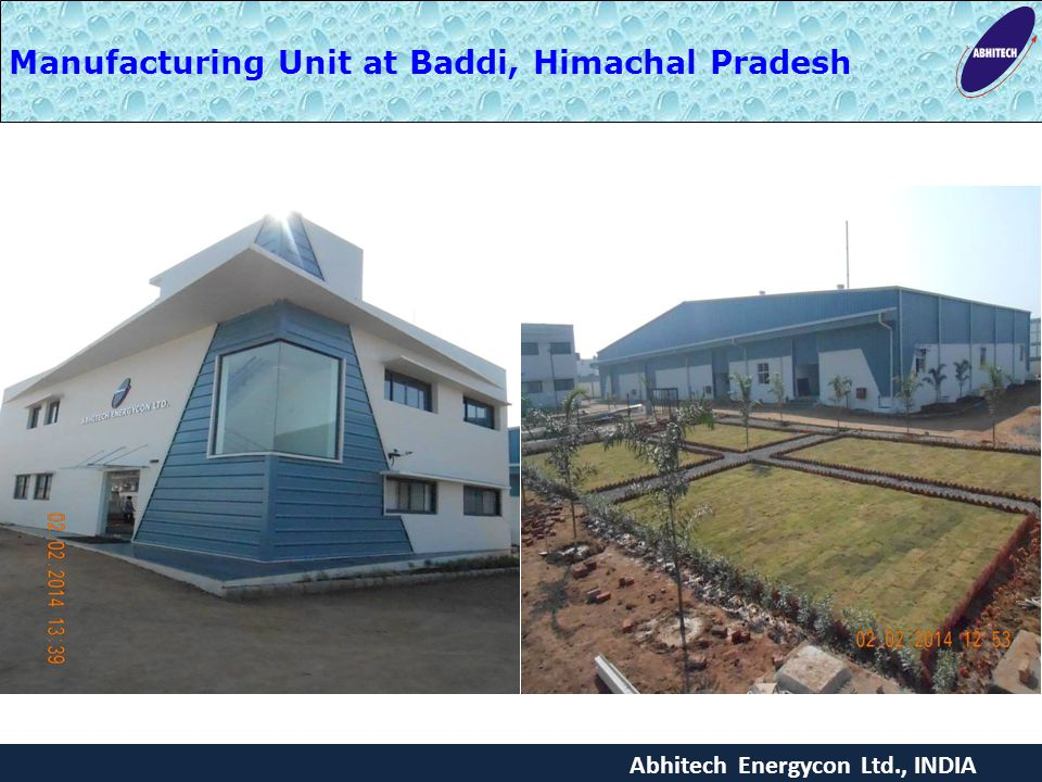 Manufacturing Unit at Baddi, Himachal Pradesh