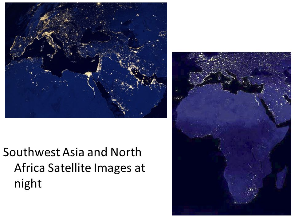 Southwest Asia and North Africa Satellite Images at night