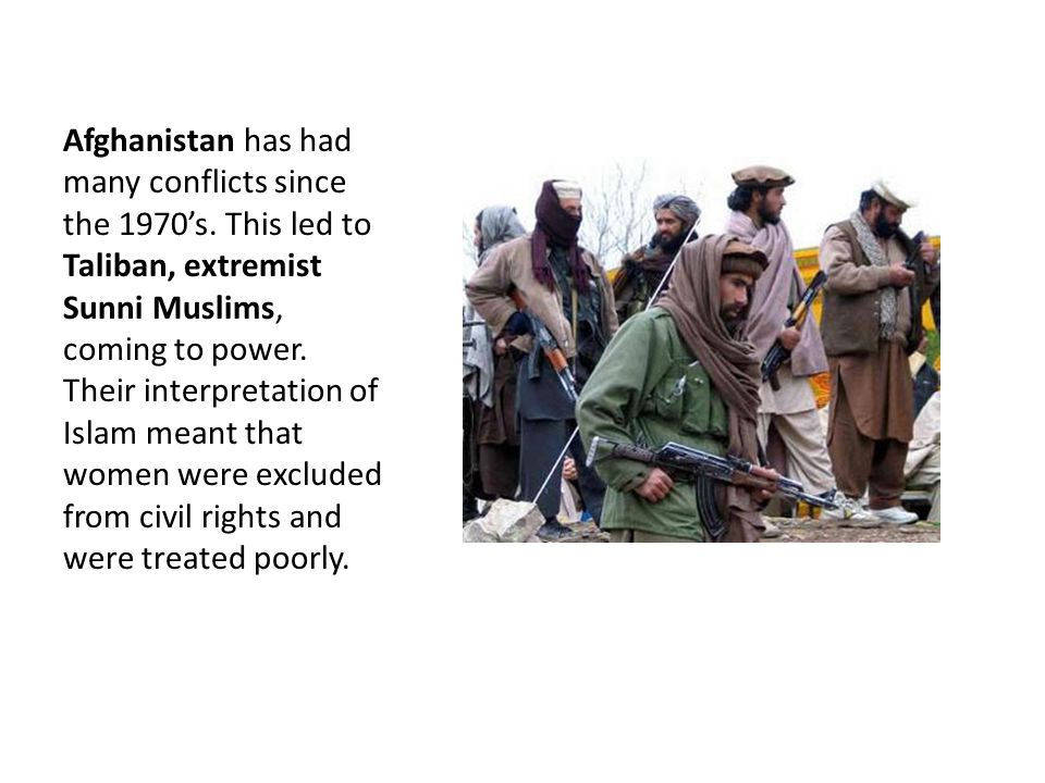 Afghanistan has had many conflicts since the 1970's